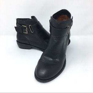 boc ankle boot heeled booties black size 6.5